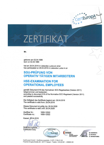 Certifikát SCC | sigmapoint.cz
